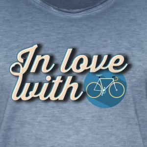 In love with cycling - T-shirt vintage Homme