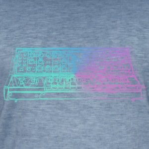 Synthesizer - Mannen Vintage T-shirt