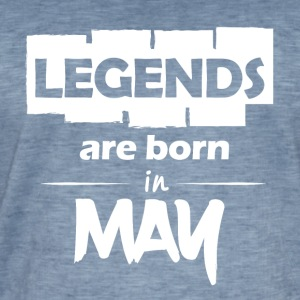 Legends are born in May - Männer Vintage T-Shirt