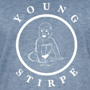 YOUNG.STIRPE - Vintage-T-skjorte for menn