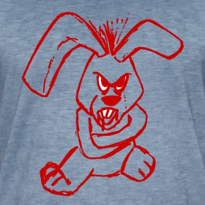 Evil Rabbit Red - Men's Vintage T-Shirt