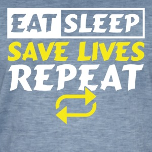 Eat Sleep redde liv GJENTA - Vintage-T-skjorte for menn