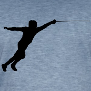 saut Fencer - T-shirt vintage Homme