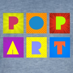 pop art - Mannen Vintage T-shirt