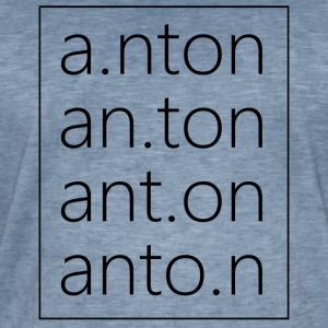 Anton Fashion - Vintage-T-skjorte for menn
