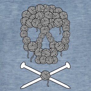 Knitters Pirate dødningehode - Vintage-T-skjorte for menn