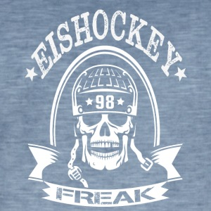 HOCKEY FREAK - Mannen Vintage T-shirt