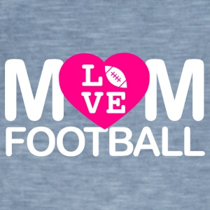 amour Maman du football - T-shirt vintage Homme