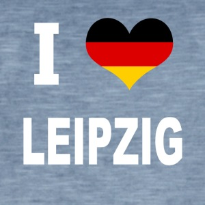 I Love Germany LEIPZIG - Vintage-T-skjorte for menn