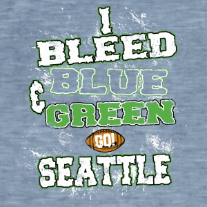 i bleed blue and green - Men's Vintage T-Shirt