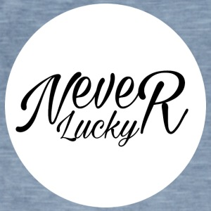 #Never Lucky - Herre vintage T-shirt