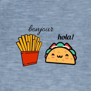 Bonjour Taco Hola French fries - Männer Vintage T-Shirt