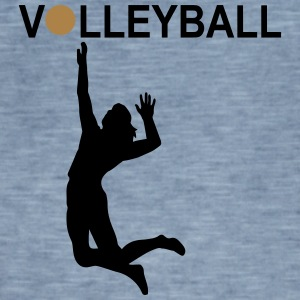 6061912 126238567 Volleyball player3 - Men's Vintage T-Shirt