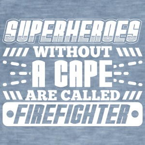 SUPERHEROES FIREFIGHTER - Men's Vintage T-Shirt