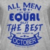 october men equal best born month logo - Camiseta vintage hombre