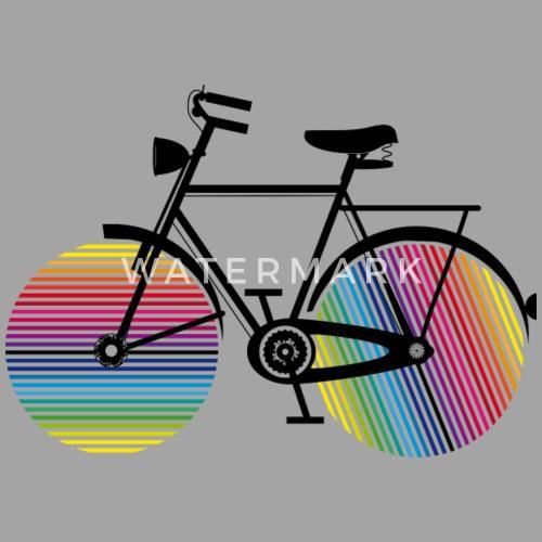 fahrrad mit regenbogen r der m nner vintage t shirt. Black Bedroom Furniture Sets. Home Design Ideas