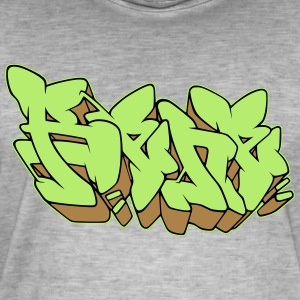 "Graffiti name ""Rene"" with Fill-in AllroundDesigns - Men's Vintage T-Shirt"