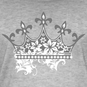 Crown med ornamenter - Herre vintage T-shirt