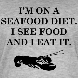 Diets with seafood - Men's Vintage T-Shirt