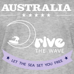 Australien Antrieb The Wave 02 - Männer Vintage T-Shirt