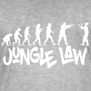 JUNGLE_LAW - Mannen Vintage T-shirt