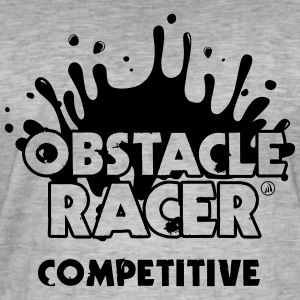 Obstáculo Racer Competitiva - Camiseta vintage hombre