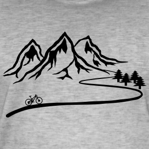 Mountain Bike Trail - Vintage-T-skjorte for menn