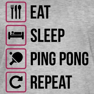 Eat Sleep Gjenta Ping Pong - bordtennis - Vintage-T-skjorte for menn