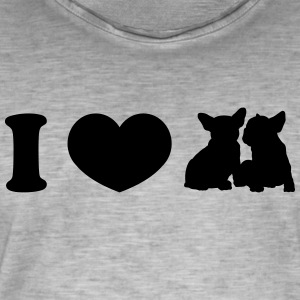 I ♥ frenchies - T-shirt vintage Homme