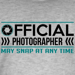 Official Photographer Funny - funny - Men's Vintage T-Shirt