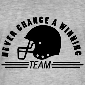 American Football nie change a winning team - Männer Vintage T-Shirt