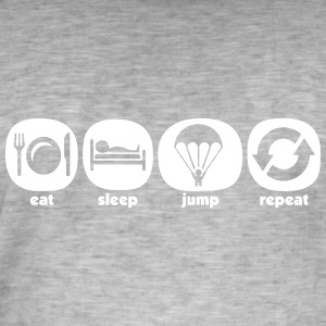 Eat Sleep Jump herhalen - Mannen Vintage T-shirt