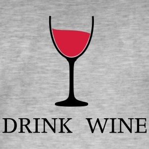 Drink Wine Wine Wine Glass 2c - Men's Vintage T-Shirt