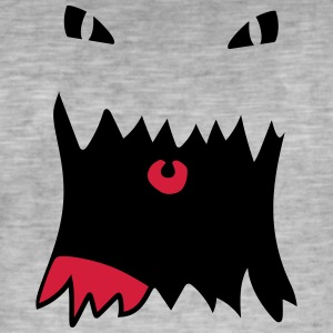 Monster Face - Herre vintage T-shirt