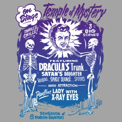 Vintage Halloween Spook Show Temple of Mystery