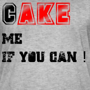 Cake_me_if_you_can3 - Miesten vintage t-paita