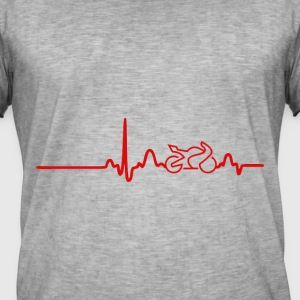 EKG Heart Line BIKE. Show your love for your bike! - Men's Vintage T-Shirt