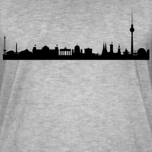 Berlin skyline - Vintage-T-skjorte for menn