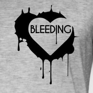 Bleeding Heart Design - Herre vintage T-shirt