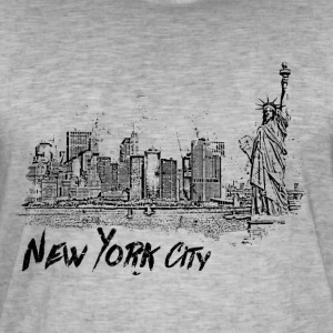 New York City - T-shirt vintage Homme