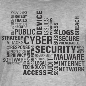 Cyber ​​security - Mannen Vintage T-shirt