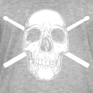 Skull head drummer - Men's Vintage T-Shirt