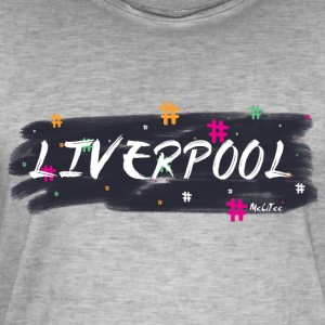 Liverpool # 1 - Vintage-T-skjorte for menn