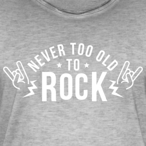 Never too old to Rock - Männer Vintage T-Shirt