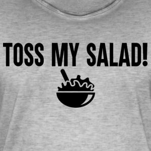 Toss My Salad Black - Mannen Vintage T-shirt