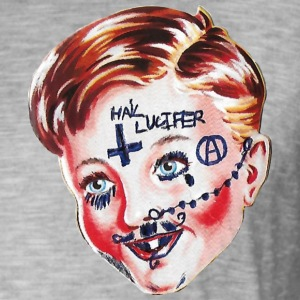 Hail Lucifer - Vintage-T-skjorte for menn