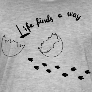 Life Finds Its Way - T-shirt vintage Homme