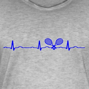 ECG HEARTBACK TENNIS blue - Men's Vintage T-Shirt