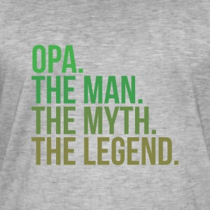 granny opa the man - Männer Vintage T-Shirt