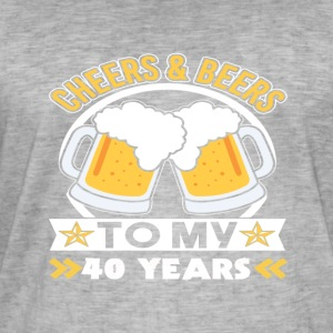 40th birthday beers - Men's Vintage T-Shirt
